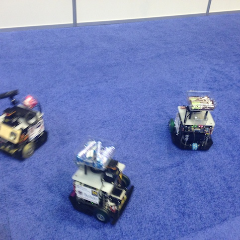Scarab Robots in motion, making deliveries